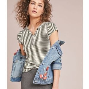 Anthropologie Pure + Good Striped Henley